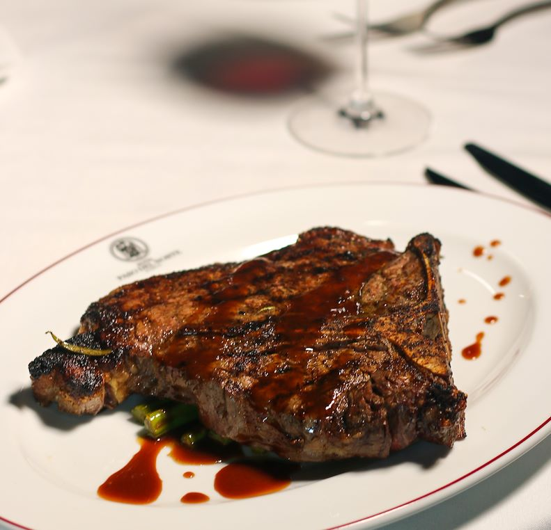 Dining at 1700° Steakhouse